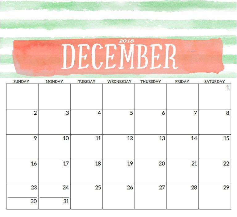 Printable Calendar December 2018 Weekly Family Planner Templates