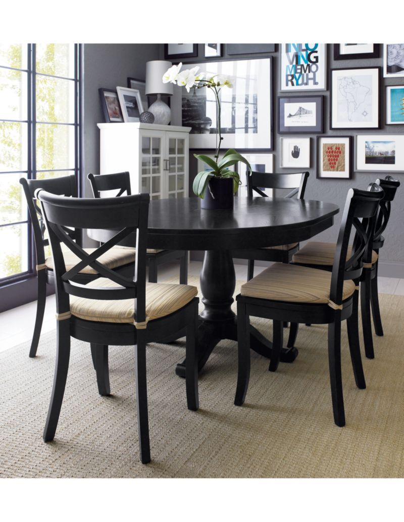 Vintner Black Wood Dining Chair Extension Dining Table Dining