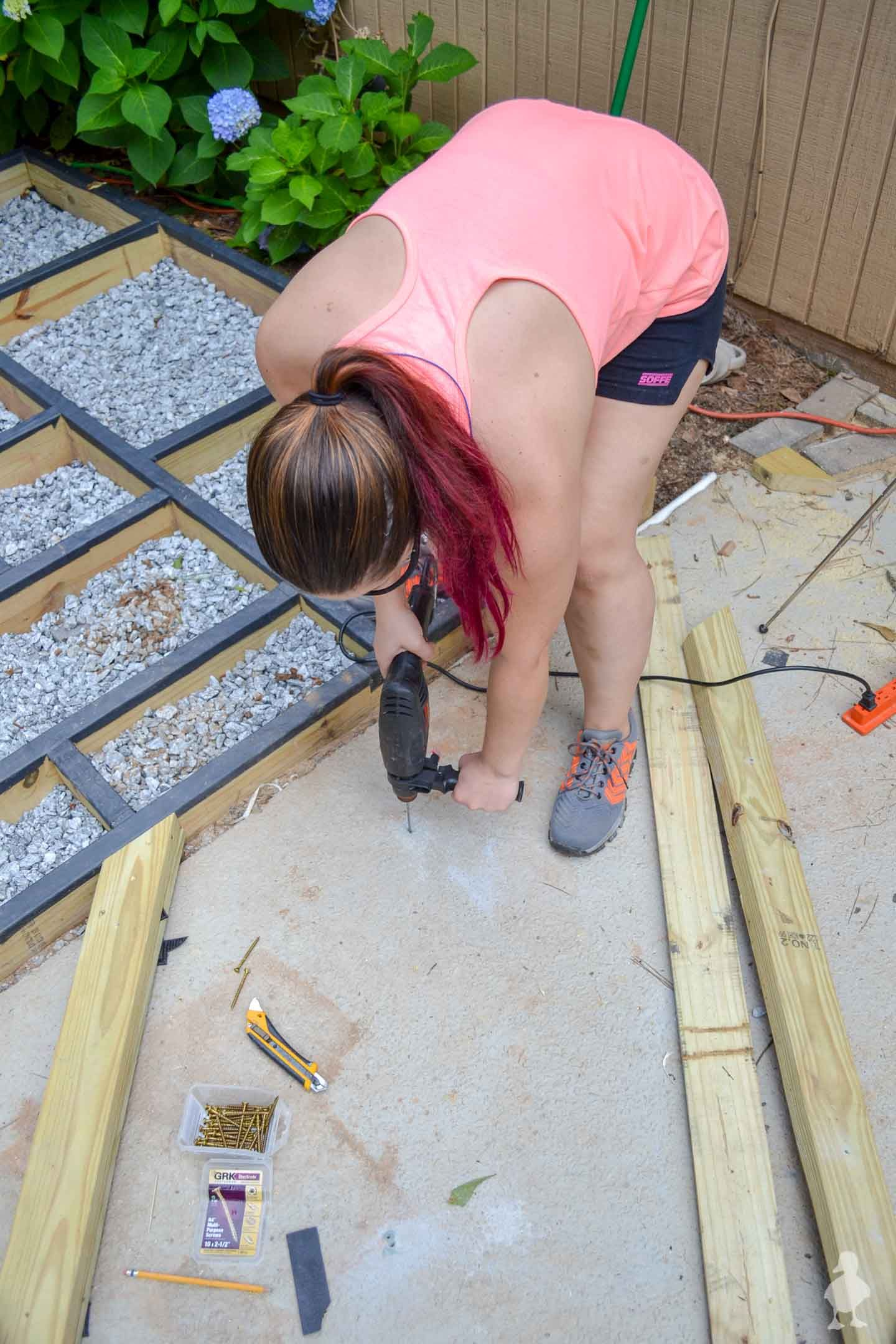 How to build a diy floating deck aka ground level deck