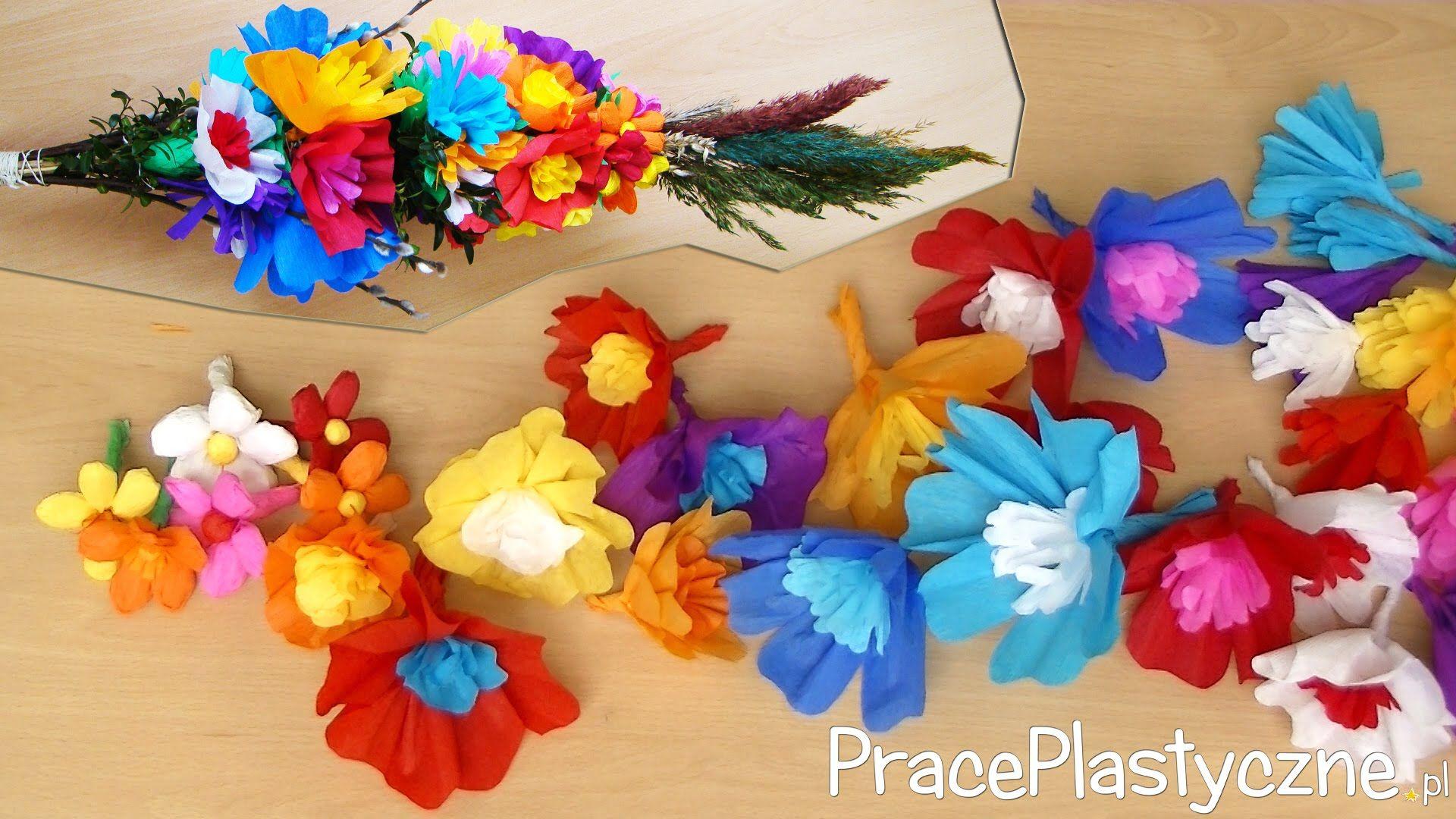 Jak Zrobic Kwiaty Z Bibuly Do Palmy Wielkanocnej Paper Flowers Easter Diy Crafts