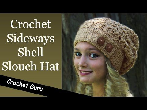 How to Crochet a Slouchy Hat - Sideways Shell Slouch Hat Pattern ...