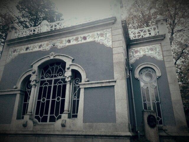 Termas de Vidago, aspeto exterior do edifício,  em Arte Nova