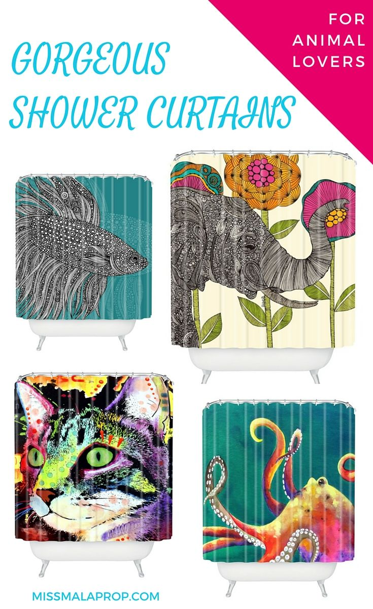 cool shower curtains for animal lovers lovers awesome showers
