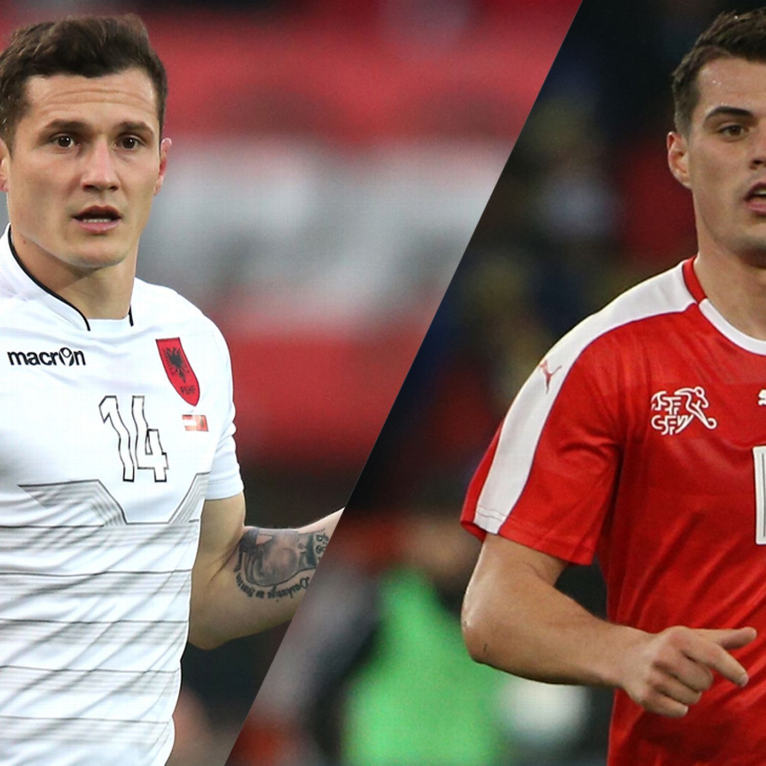 Taulant And Granit Xhaka Brothers Face Off In Switzerland Vs Albania Face Off Two Brothers Albania