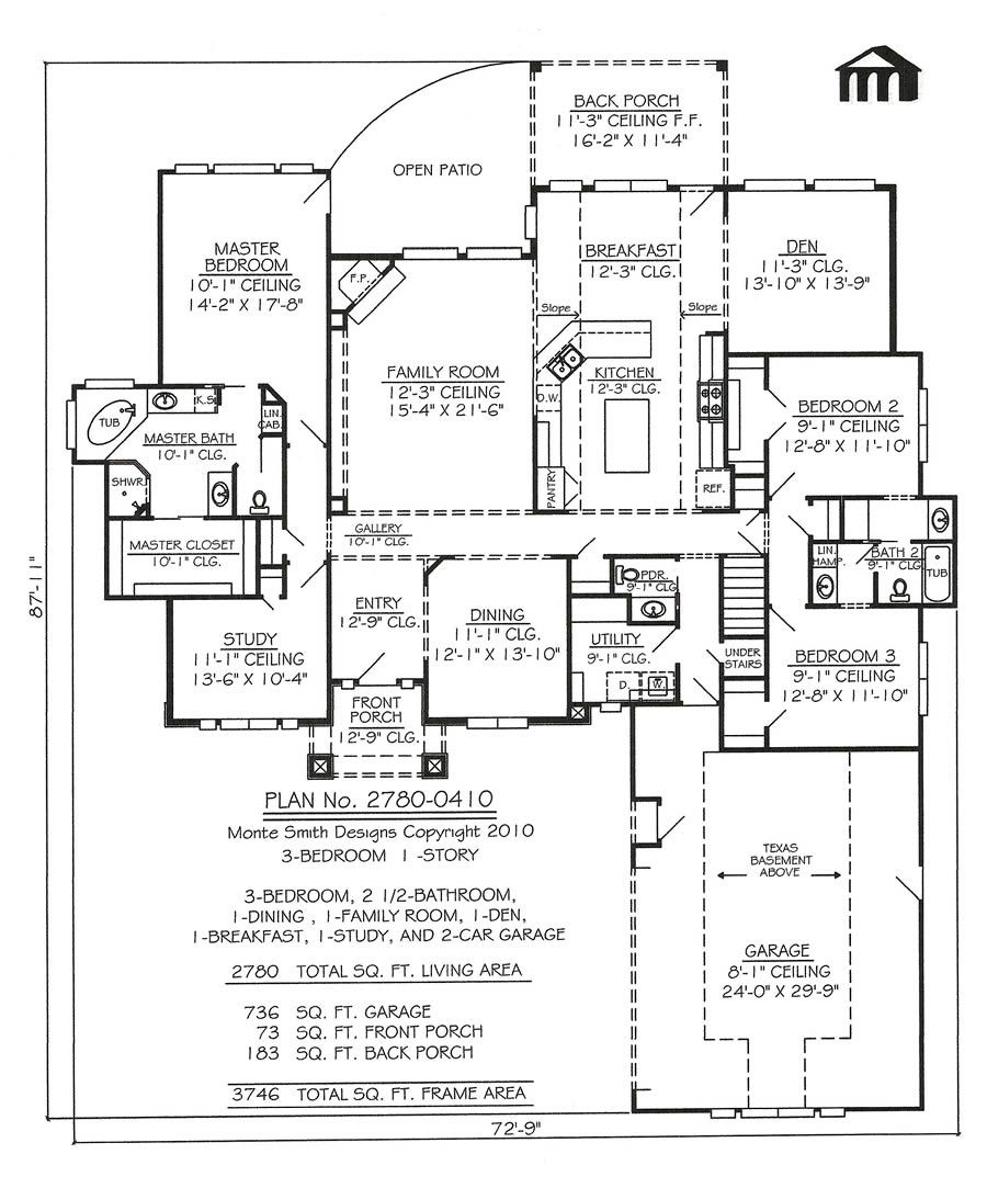 1 Story, 3 Bedroom, 2 1/2 Bathroom, 1 Dining Room, 1 Family Room, 1 ...