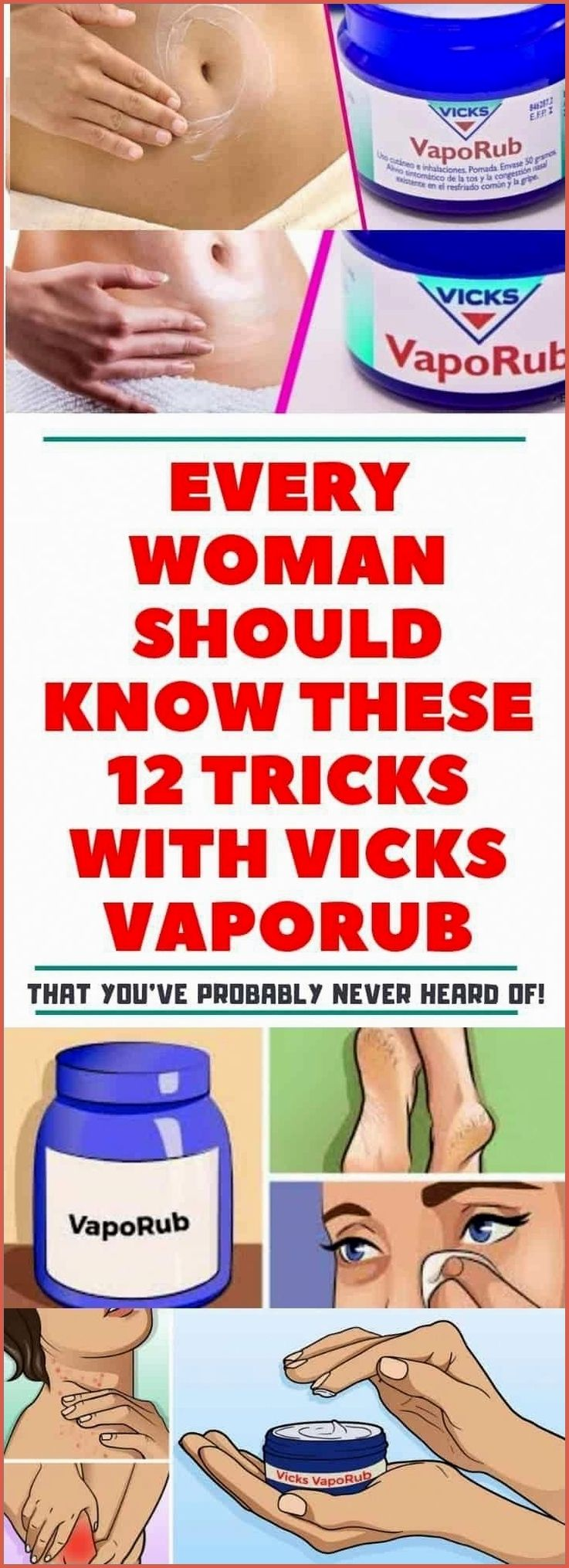 Every Woman Should Know These 12 Tricks With Vicks