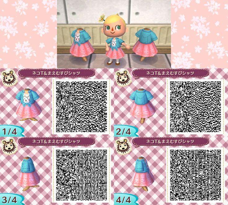 Cute spring cat dress acnl qr code