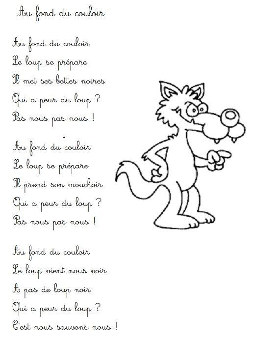 Pingl par sylvie maudoux sur loup stic loup comptines et pierre et le loup - Coloriage pierre et le loup ...