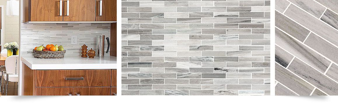 Unique Skyline Marble Comes With Gray White And Some Brown Colors Makes  This Modern Look Subway Kitchen Backsplash Tile.