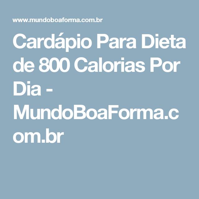 Dieta de 800 calorias al dia