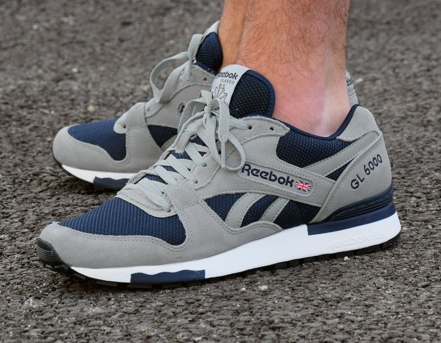#Reebok GL 6000 Athletic - Grey/Blue #sneakers