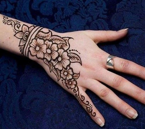 Small Henna Hand Design Posted by Amir Riaz Always Y0Ur Well