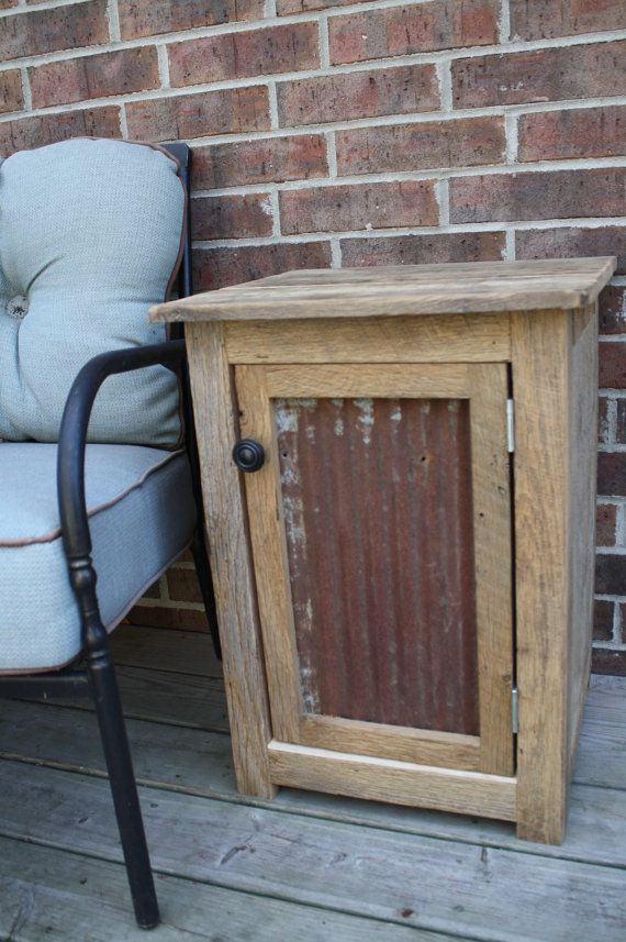 YOUR Custom Rustic Barn Wood End Table, Night Stand, or Side Table on Etsy, $150.00
