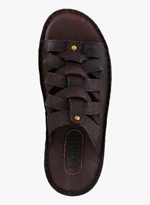 f43b7eab00c Buy Mochi Brown Slippers for Men Online India