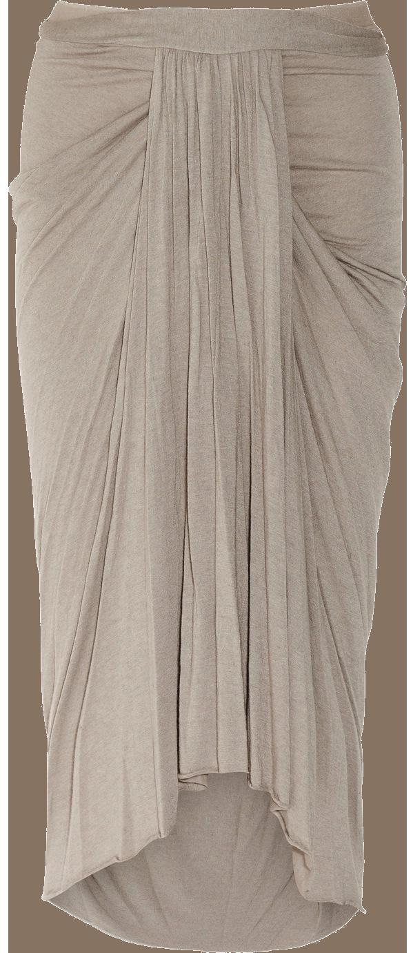 e05a6841479 RICK OWENS LILIES | Mauve ruched wool-blend jersey midi-skirt ($432 ...