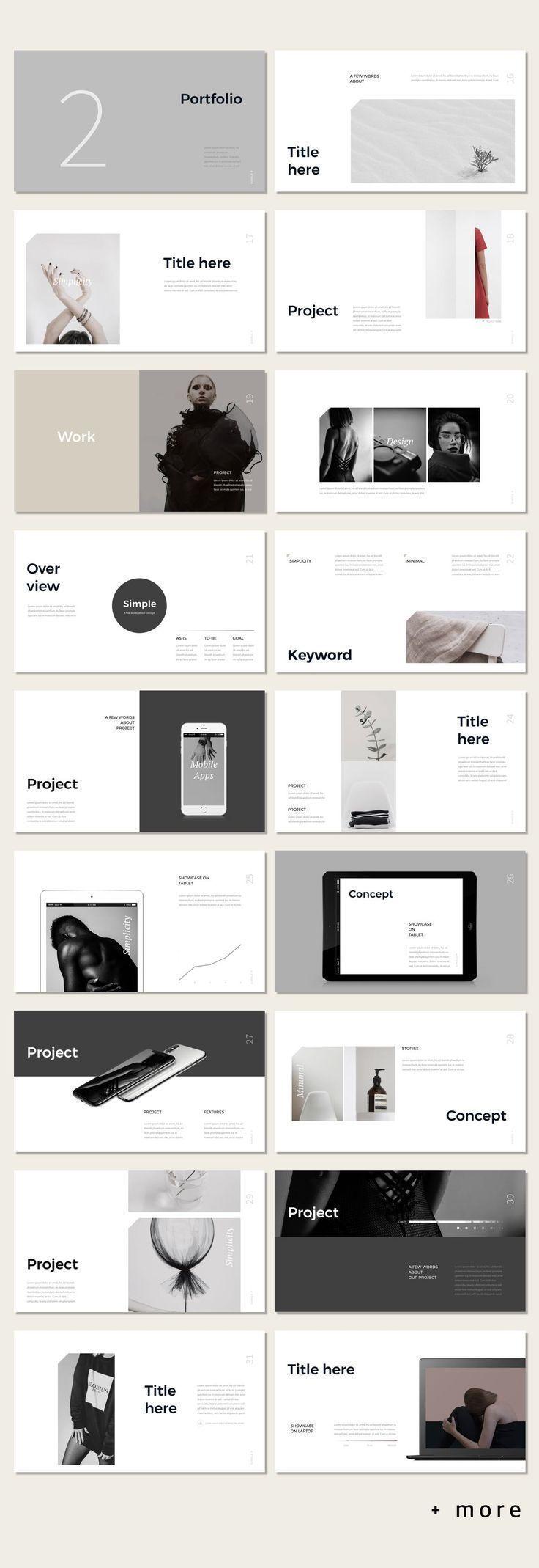 simple p  powerpoint template  mit bildern