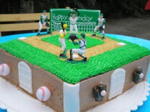 base ball cake idea Baseball Birthday Cake Baseball Birthday