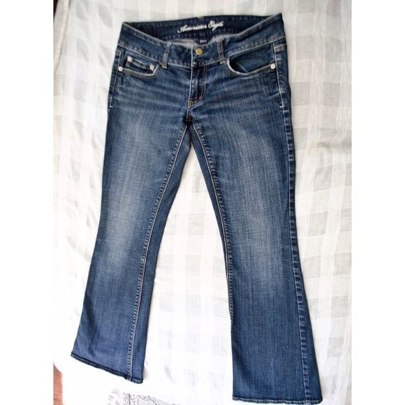 American Eagle Artist Bootleg Jeans Very flattering jeans. Length short. Excellent Used Condition (EUC), no flaws noted American Eagle Outfitters Jeans