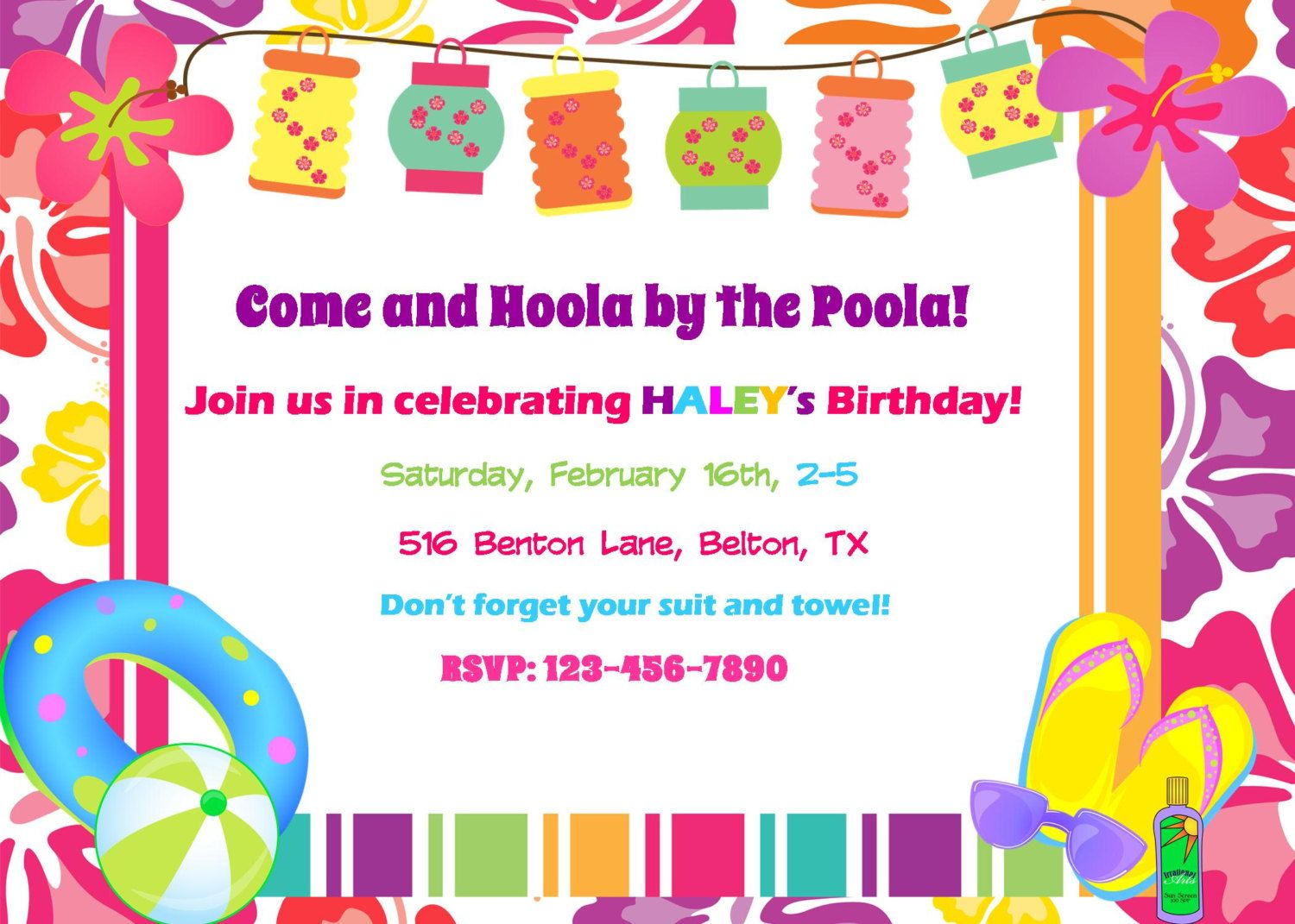 luau party invitations templates free - Ideal.vistalist.co