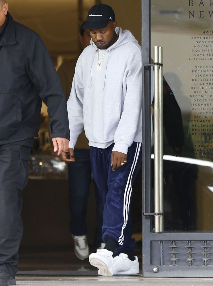 2a5f5d5045abc Kanye West out and about in Beverly Hills  kanye  kanyewest  yeezy  adidas   palace  adidaspalace