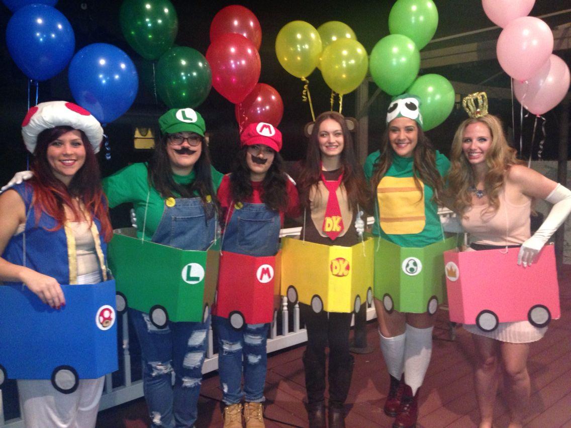 9 Co-ed Group Halloween Costumes   Mario kart and Mario