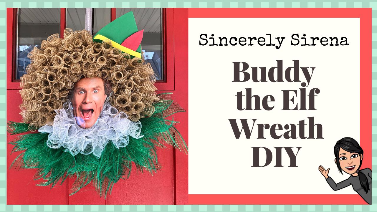 Buddy The Elf Wreath DIY Buddy the elf, Diy wreath, The elf