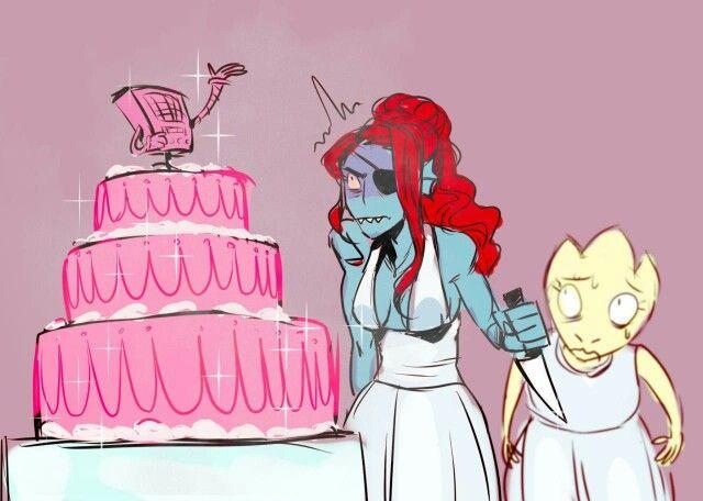 Undyne x Alphys Wedding