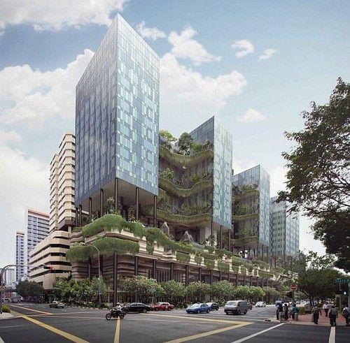 Vertical Gardens, future, architecture, futuristic, green ...