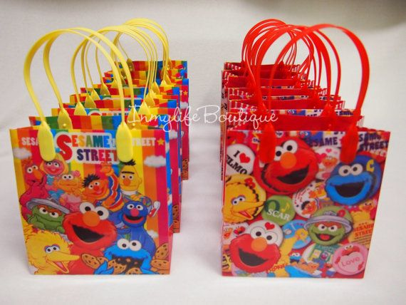 Sesame Street Theme Party Bags Favours//loot Bags