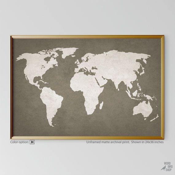 Rustic map large world map neutral wall decor rustic world map rustic map large world map neutral wall decor rustic world map world map wall art world gumiabroncs Image collections
