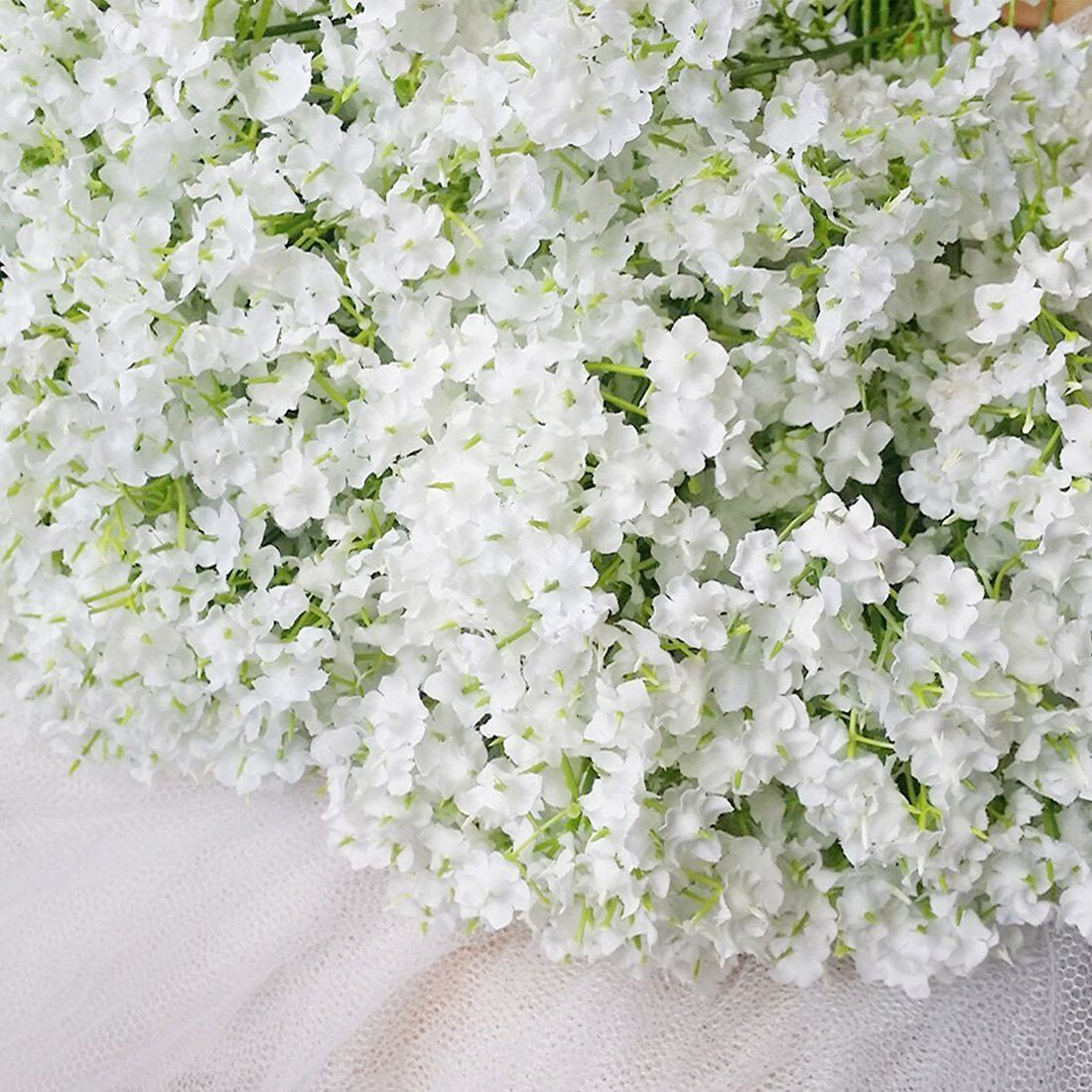 Wedding decorations white  Bringsine Baby BreathGypsophila Wedding Decoration White Colour