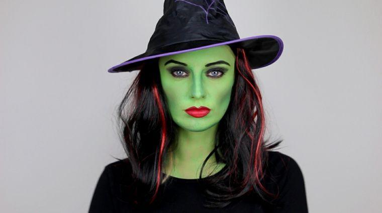 maquillaje de brujas verdes Decoracin para Halloween Pinterest