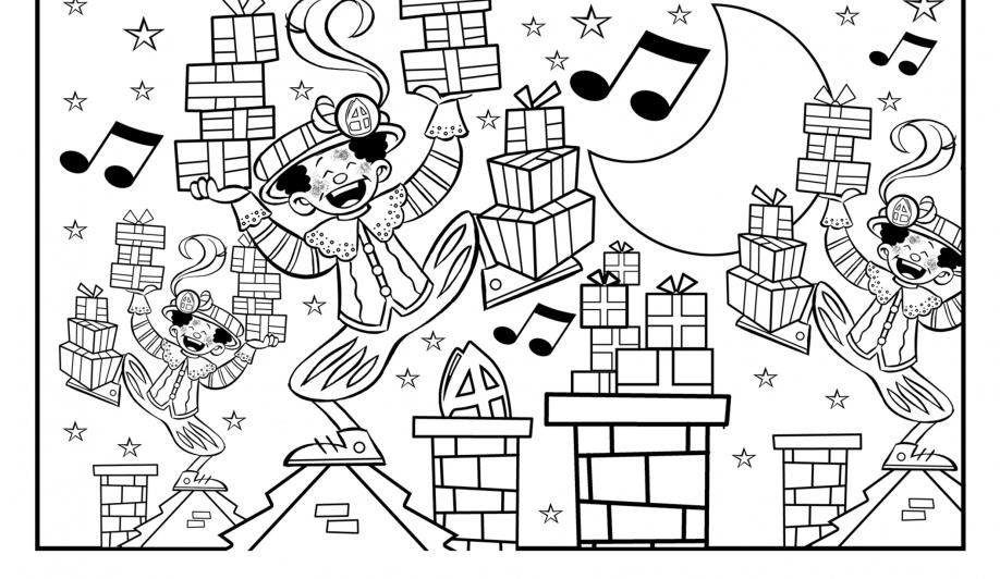 Quatang Gallery- Kleurplaten Sinterklaasjournaal Sinterklaas Kleurplaten Feestdagen