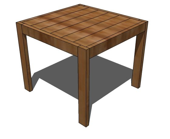 High Top Table: Ana White | Build A Square Modern Farmhouse Table | Free And