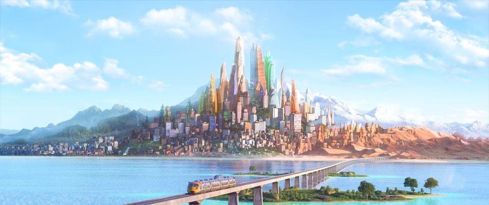 "Zootopia Anime Movie Fabric poster 55"" x 24"" Decor 08"