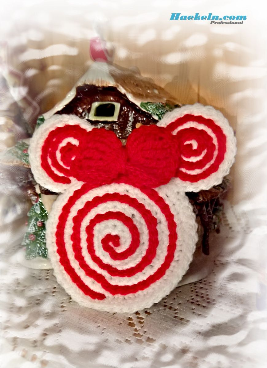 Zuckerstangen Maus Kostenlose Häkelanleitung #häkeln #weihnachten ...