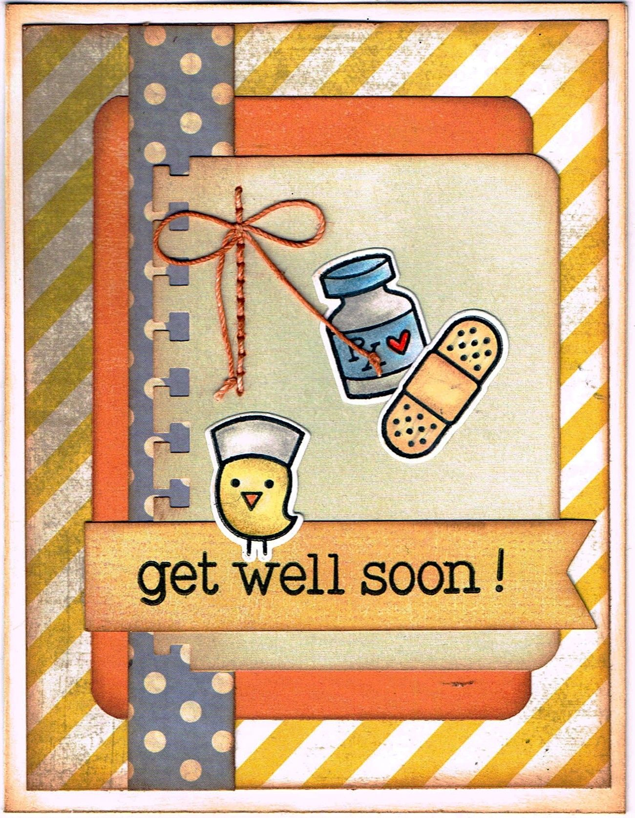 lawn fawn's get well soon stamp  die set  greeting cards