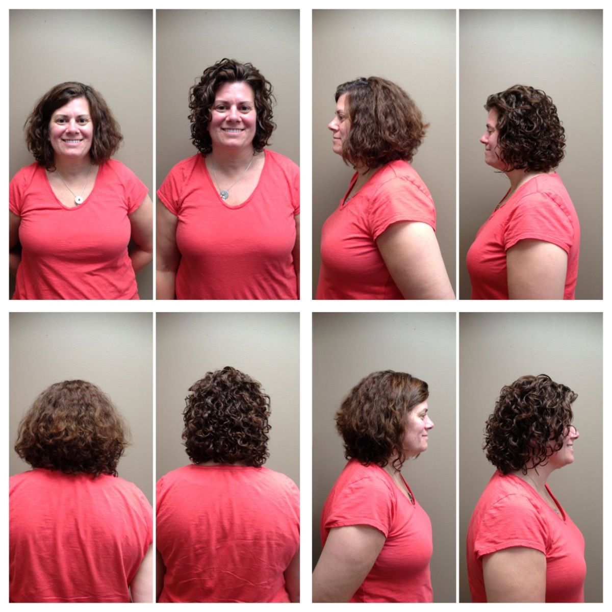 Before And After Of An Ouidad Haircut And Style Done By Andrea Talk