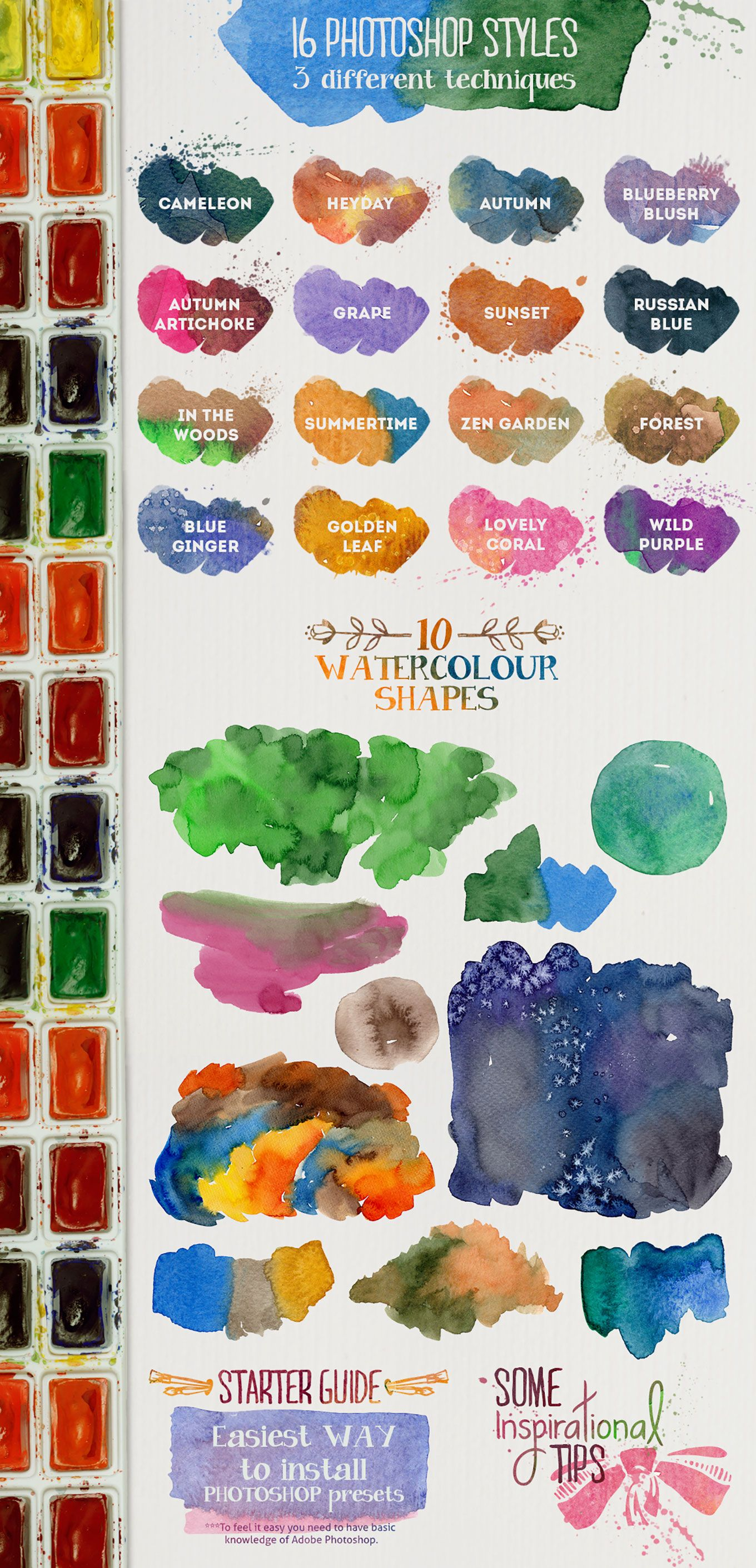 Free Watercolor Layer Styles For Photoshop Photoshop Ideen
