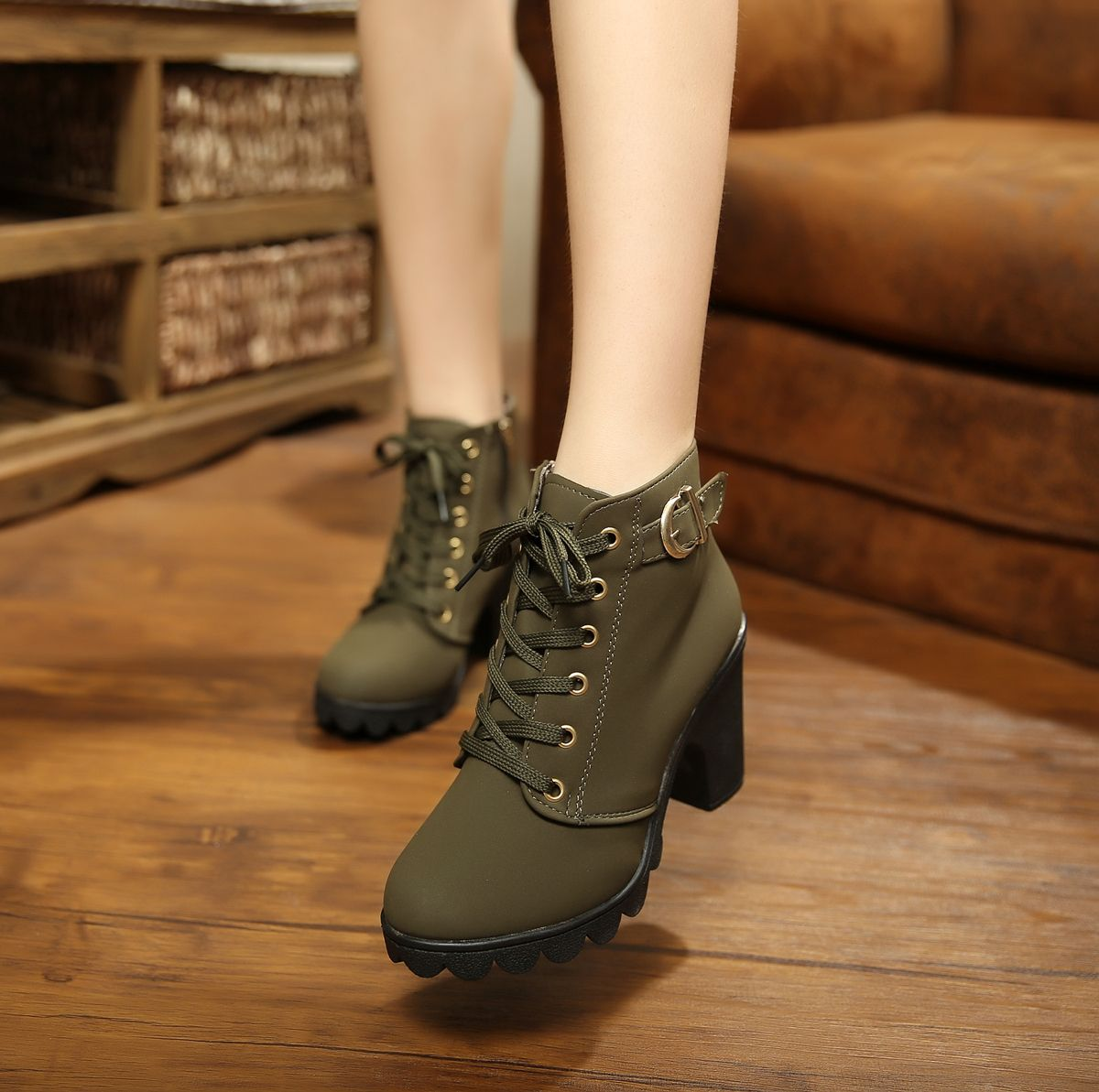 a1bf5a3026ac Free shipping 2014 women s fall and winter shoes and boots heeled shoes  thick heel boots Martin