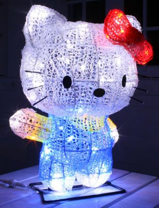 Hello Kitty 3D Christmas Light Figure  Hello Kitty Christmas