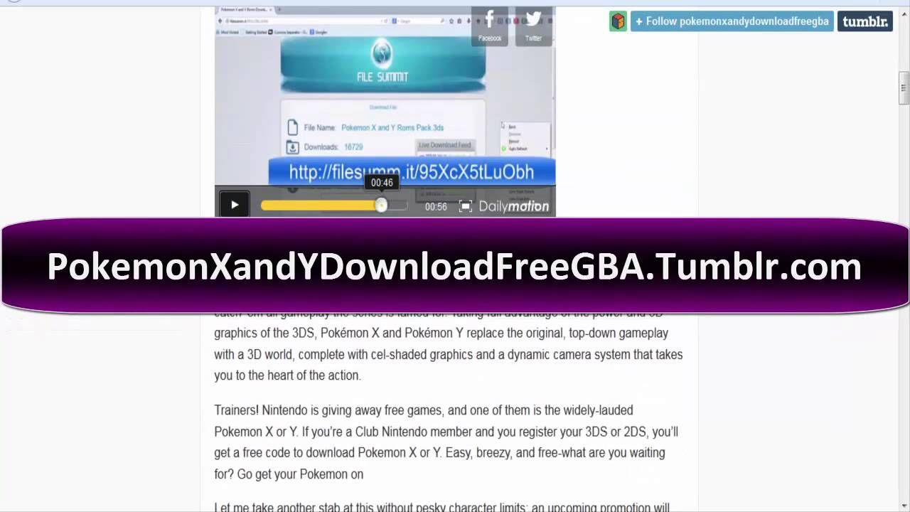 pokemon x and y nds rom free download no survey