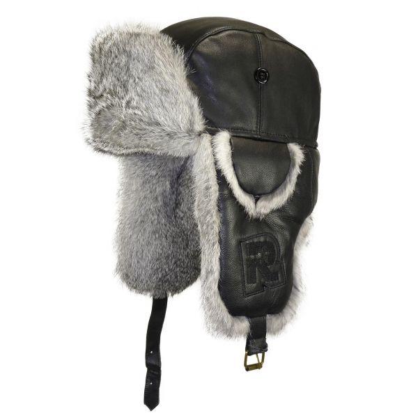 Chapka Rush Rmoutain en cuir Noir #hiver #mode #homme #streetwear #urbanwear avec @hatshowroom