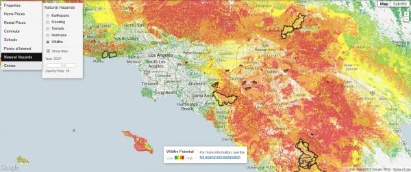 Trulia Wildfire La Map Interactive Map Data Visualization