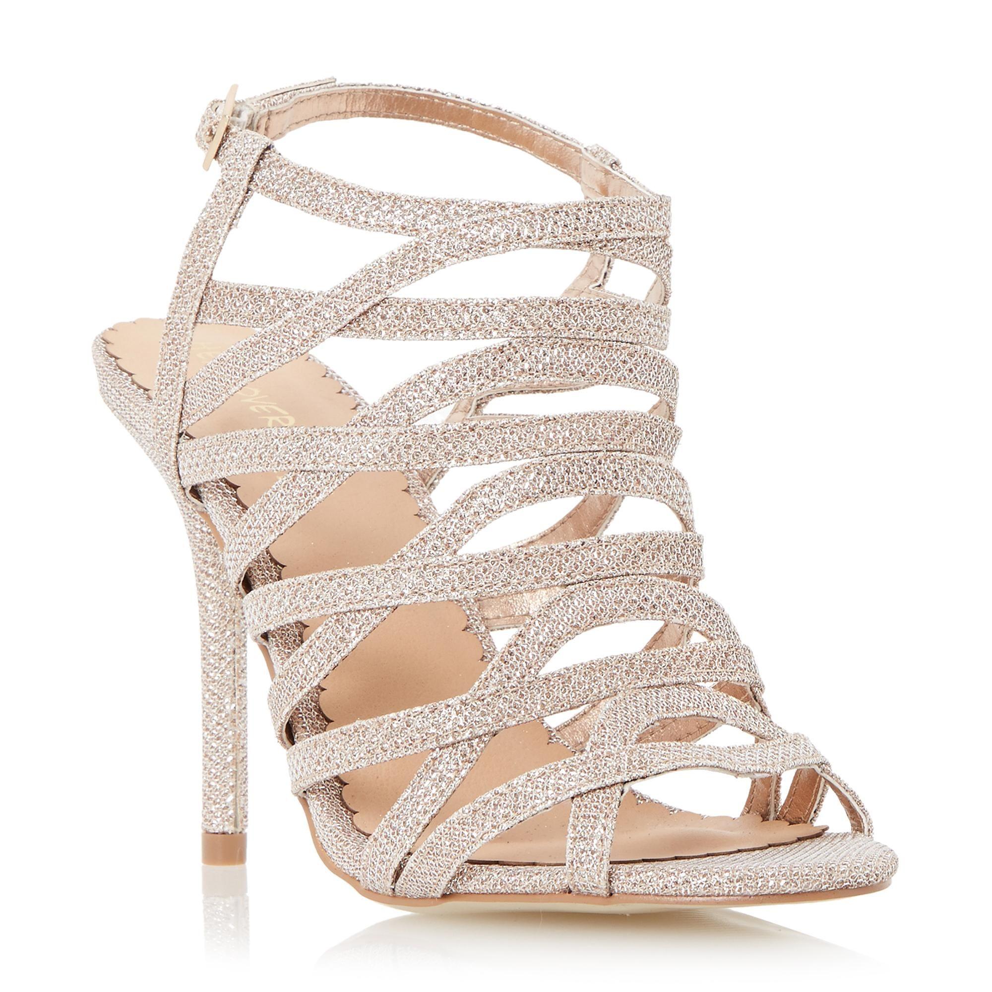 Head Over Heels by Dune Ladies MANARA Strappy High Heel Sandal in Gold Size  UK 8