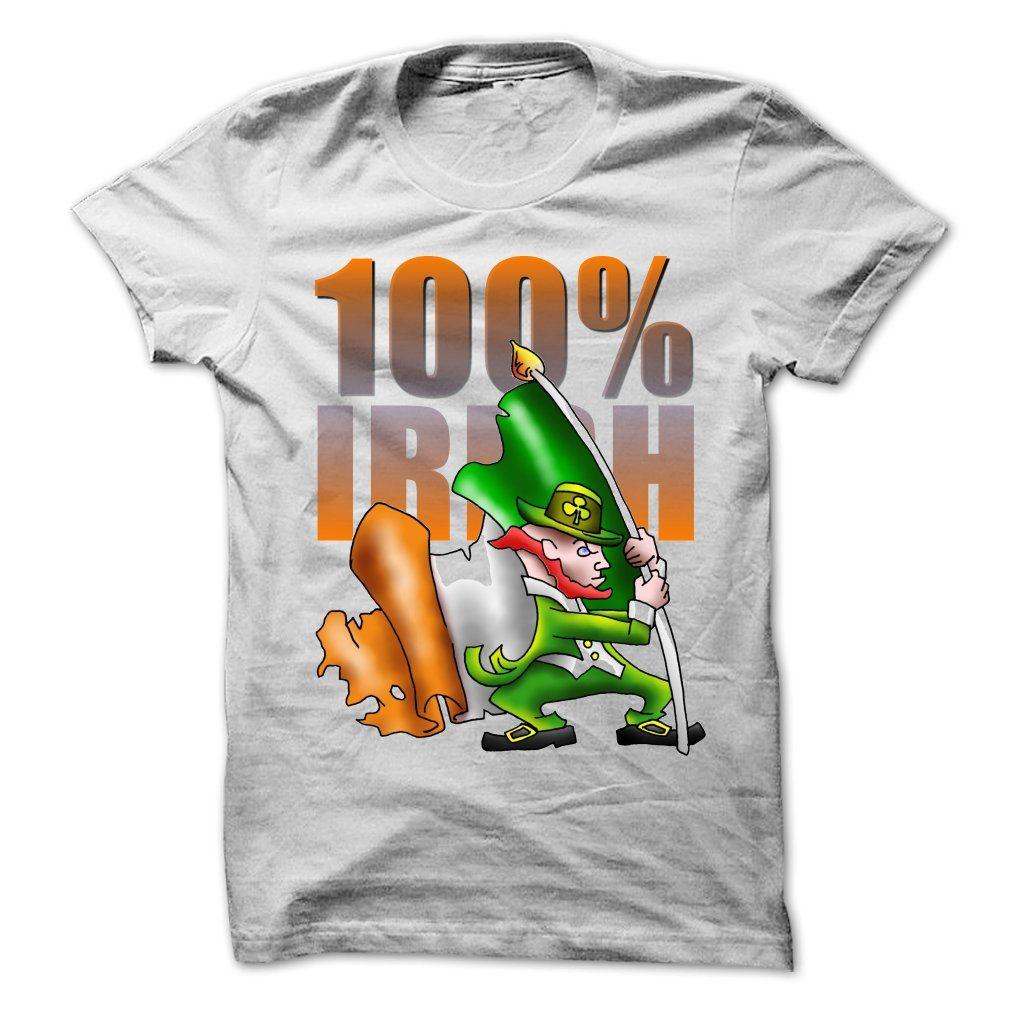 100% Irish T Shirts, Hoodies. Check price ==► https://www.sunfrog.com/LifeStyle/100-Irish-62229519-Guys.html?41382 $19