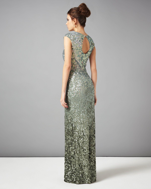 collection 8 dresses | Green Colette Sequin Full Length Dress ...