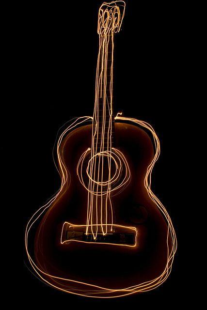 Spanish Guitar Painting With Light Guitar Art Guitar Guitar Illustration