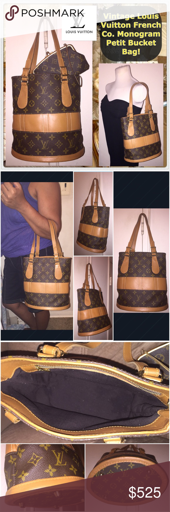 d3cddc77604 Spotted while shopping on Poshmark  VTG Louis Vuitton French Co. Petit Bucket  Bag!!  poshmark  fashion  shopping  style  Louis Vuitton  Handbags