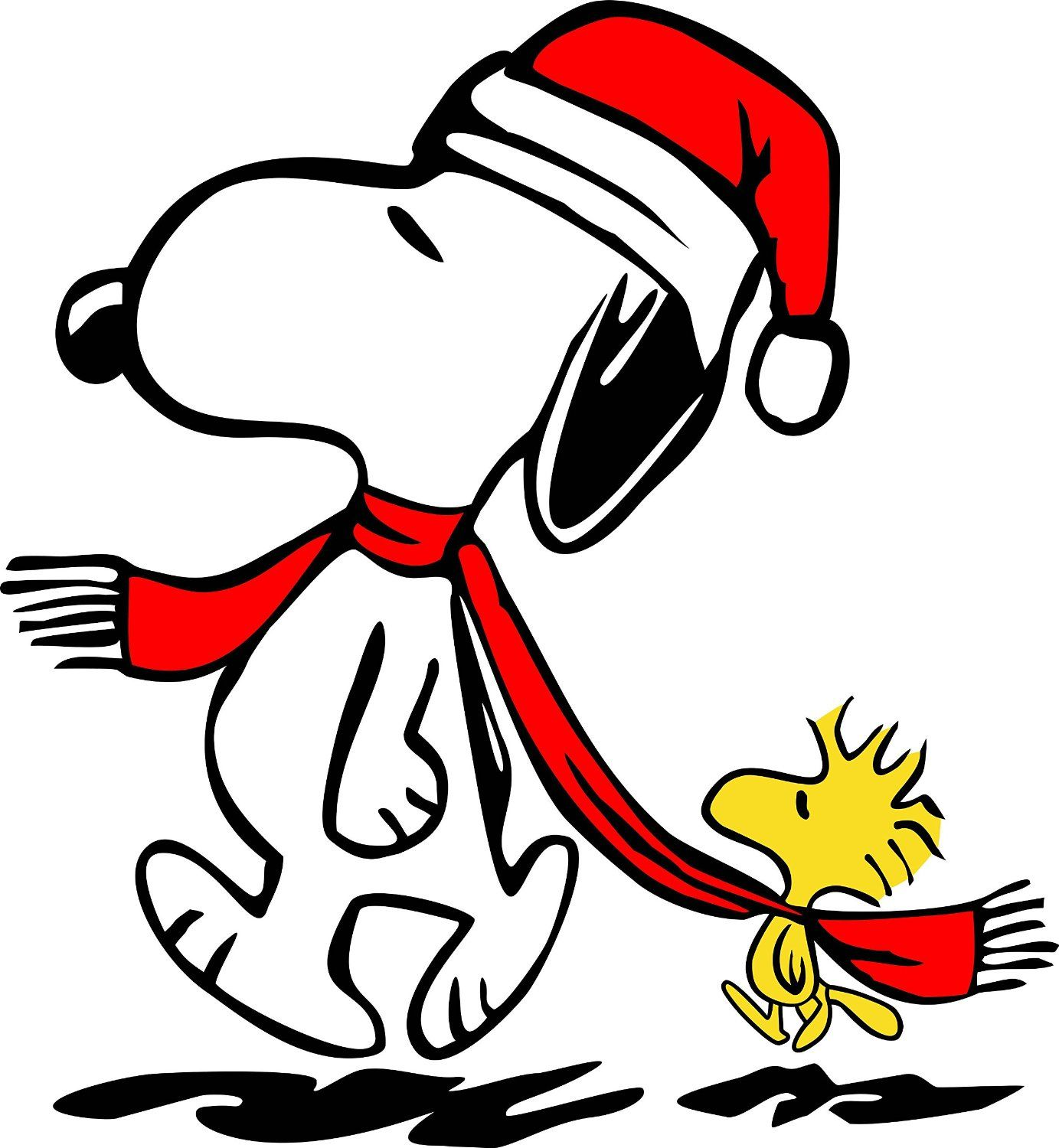 amazon com snoopy winter holiday christmas with woodstock in stocking cap and red scarf 14 x 16 inches new item  [ 1383 x 1500 Pixel ]